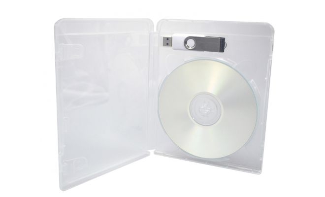 Blu ray style USB and disc case